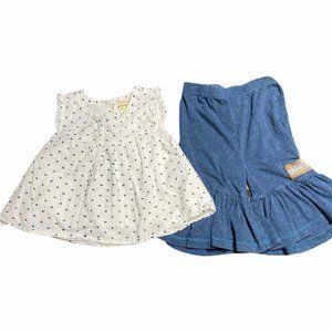 Matilda Jane Pom Dot Swing Top Outfit